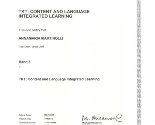Certificato CLIL Cambridge